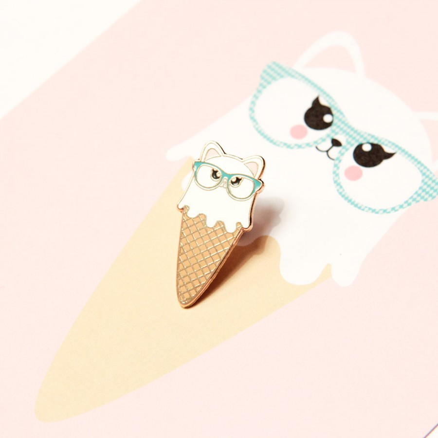 Pin Cat Icecream
