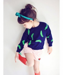BANANA knit pullover - navy