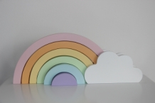 Cloud & Rainbow - pastel