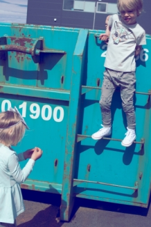 KARLA pants baggy with fox